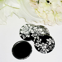 Flowers & Decor, Favors & Gifts, black, favor, Flower, Pocket, Mirror, Flirtbuttons