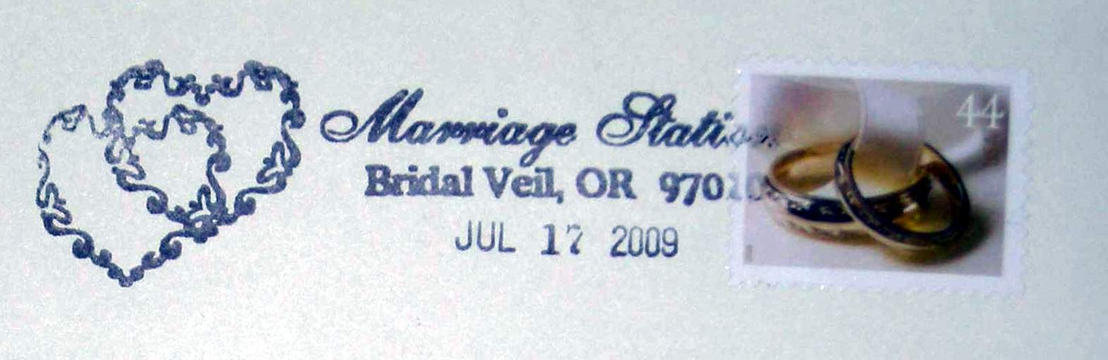 DIY, Stationery, Invitations, Stamp, Bridal veil post office, Postmark