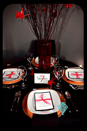 Planning, red, black, planner, Modern, Centerpiece, Wedding, Proposal, Table, Asian, A, Number, Event, Inspired, Edmonton, A modern proposal event planning