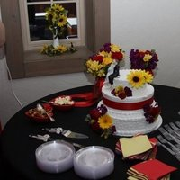 Cakes, yellow, red, purple, cake, Table, Colors, Bold, Emerald engagements wedding event planning