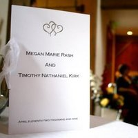Planning, Stationery, Ceremony Programs, Programs, Wedding, Event, Engagements, Emerald