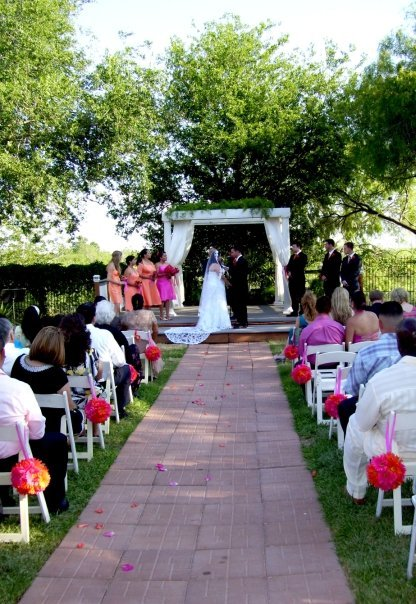 Ceremony, Flowers & Decor, orange, pink, Garden, And