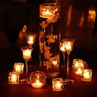 Reception, Flowers & Decor, Centerpieces, Candles, Flowers, Submerged, Vase glass, Vase cylinder, Candle holders, Flower orchid, Vendor inside candles