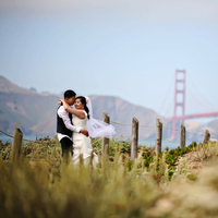 Ceremony, Flowers & Decor, Veils, Beach Wedding Dresses, Fashion, Beach, City, Beach Wedding Flowers & Decor, Veil, Ocean, Couple, Baker beach, Trash the dress, San, Francisco, Hall, Michelle hayes photography, Golden gate bridge, Civil ceremony