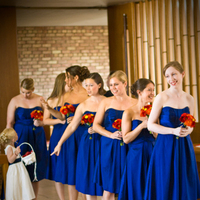 Ceremony, Flowers & Decor, Bridesmaids, Bridesmaids Dresses, Fashion, blue, Wedding, Bridesmaid, Of, Church, Honor, Maid, Inside, Ashley athey photography