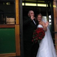 Bride, Groom, Trolley