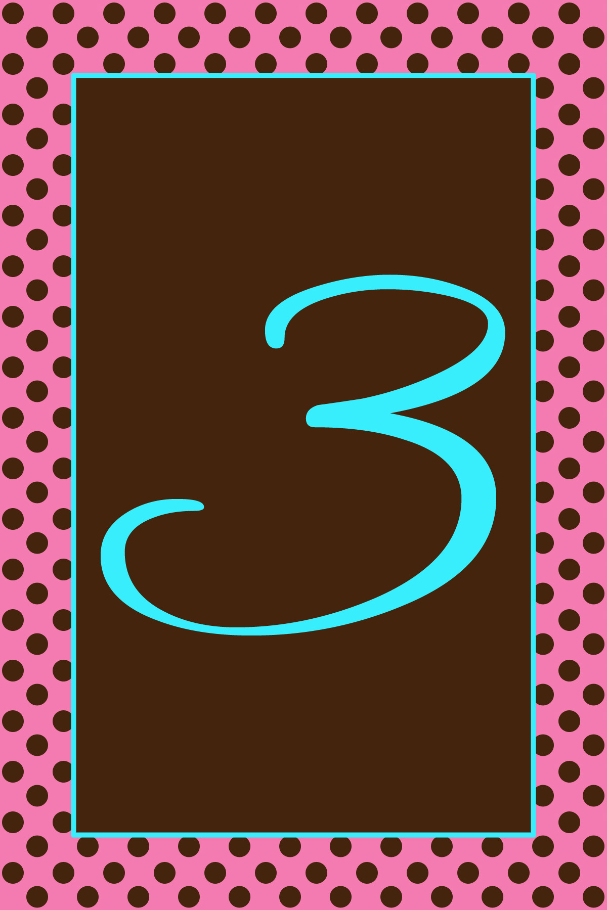 pink, brown, Table, Chocolate, Numbers, Aqua, Turquoise