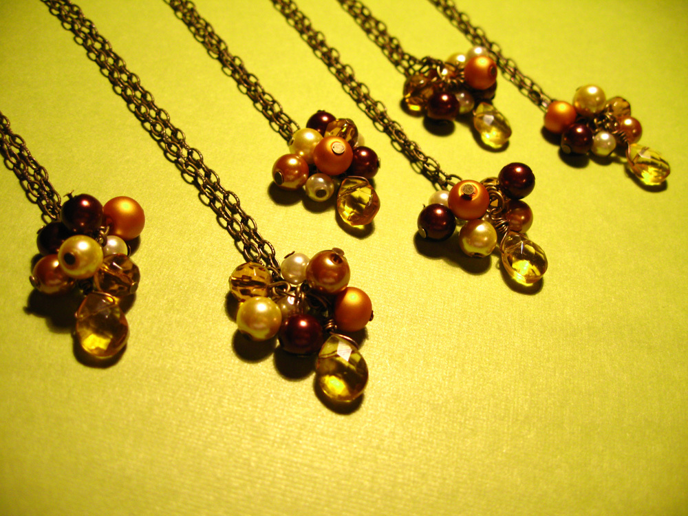 Jewelry, Bridesmaids, Bridesmaids Dresses, Fashion, orange, brown, gold, Necklaces, Necklace, Spiffing jewelry