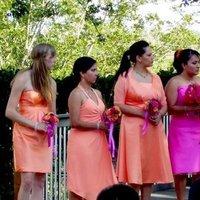 Bridesmaids, Bridesmaids Dresses, Fashion, orange, pink, And