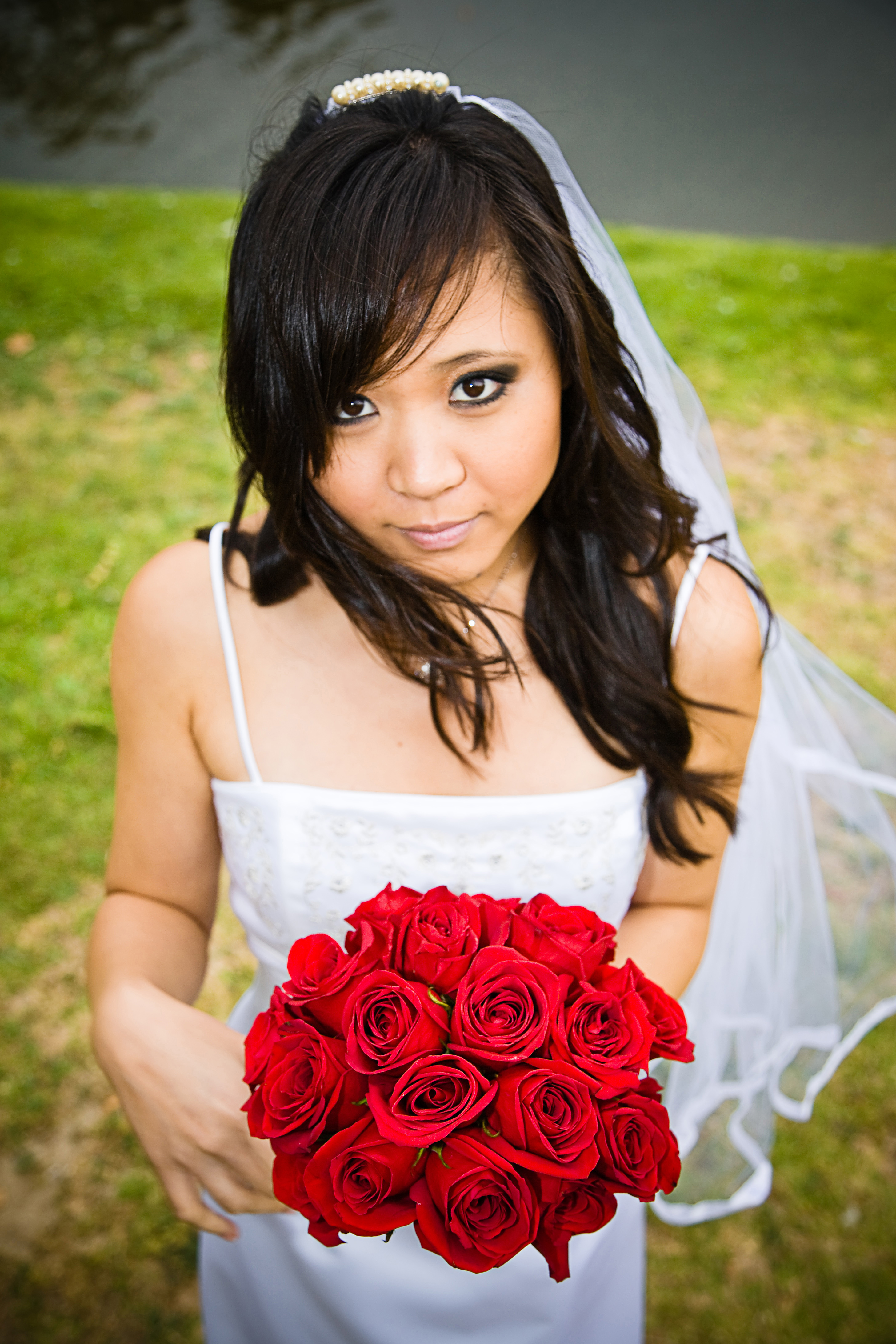 red, Bride, Bouquet, Waiting, Asian, Eyes, Fowers, Allen taylor photography