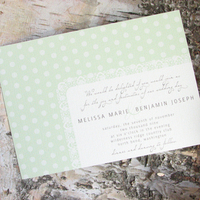 Stationery, green, invitation, Invitations, Wedding, Custom, Personalized, Polka dot, Dot, Pink lily press, Pinklilypress