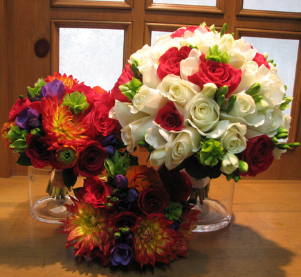Flowers & Decor, white, yellow, orange, red, purple, green, Flowers, Bright, Bouquets, San diego wholesale flowers