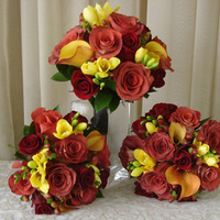 Flowers & Decor, red, burgundy, Flowers, Bridal, Bouquets, Dark, San diego wholesale flowers