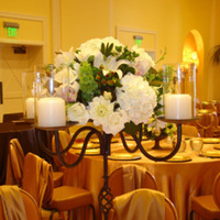 DIY, Reception, Flowers & Decor, Decor, white, green, Centerpieces, Candles, Flowers, Centerpiece, Iron, Designers, San diego wholesale flowers