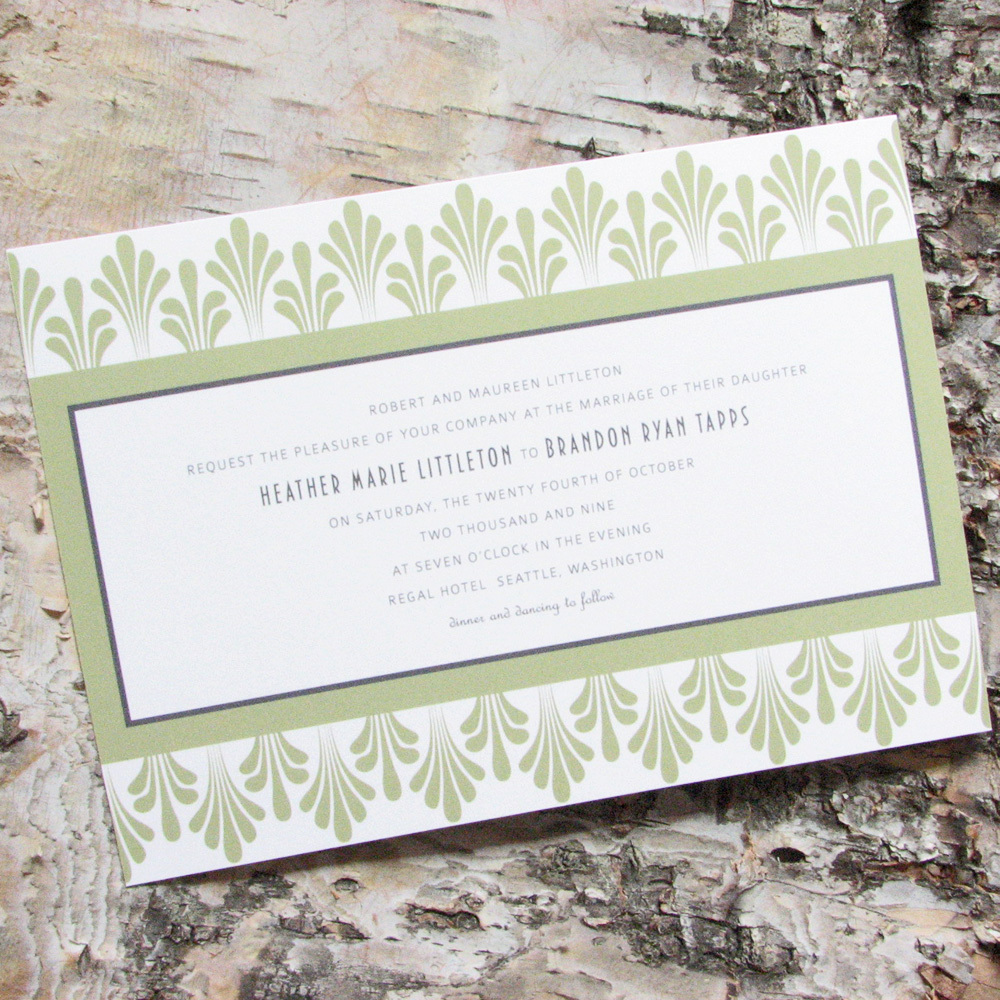 Stationery, green, gray, invitation, Invitations, Wedding, Custom, Personalized, Sage, Deco, Pink lily press, Pinklilypress