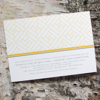 Stationery, yellow, gray, invitation, Invitations, Wedding, Custom, Personalized, Lattice, Pink lily press, Pinklilypress