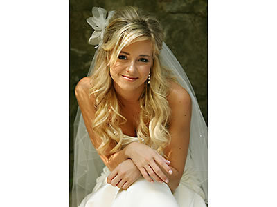 Beauty, Wedding, Hair, Up, Half, Blonde, Curls