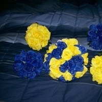 Flowers & Decor, yellow, blue, Bride Bouquets, Flowers, Bouquet