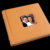 Ceremony, Reception, Flowers & Decor, orange, Bride, Groom, Signature, Album, Leather, Pictobooks