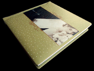 white, green, Bride, Custom, Album, Leather, Pictobooks, Mystique