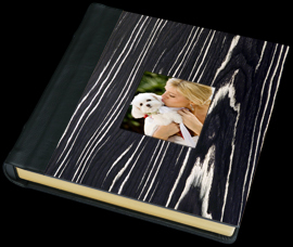 white, black, Bride, Groom, Custom, Album, Wood, Leather, Cameo, Zebra, Pictobooks