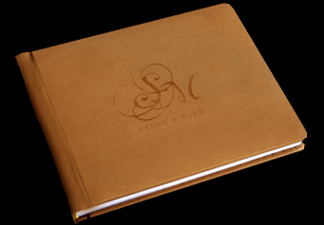 gold, Monogram, Custom, Album, Emboss, Bijou, Pictobooks, Etch