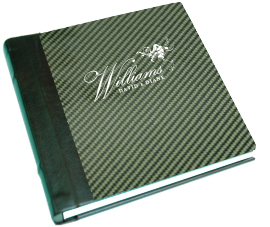green, Monogram, Custom, Album, Leather, Emboss, Pictobooks, Etch