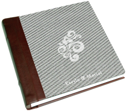 white, red, silver, Monogram, Custom, Album, Leather, Emboss, Pictobooks, Etch