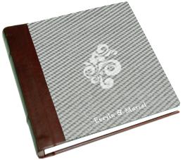 white, red, silver, Monogram, Custom, Album, Leather, Emboss, Pictobooks, Etch
