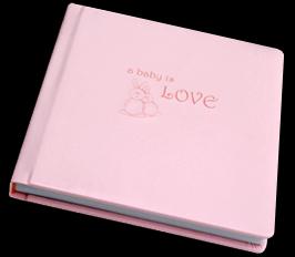 pink, Monogram, Custom, Baby, Album, Emboss, Bijou, Pictobooks, Etch