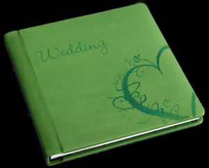 green, Monogram, Custom, Album, Emboss, Bijou, Pictobooks, Etch