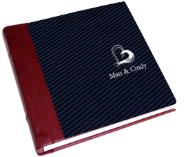 red, blue, Monogram, Custom, Album, Leather, Emboss, Pictobooks, Etch