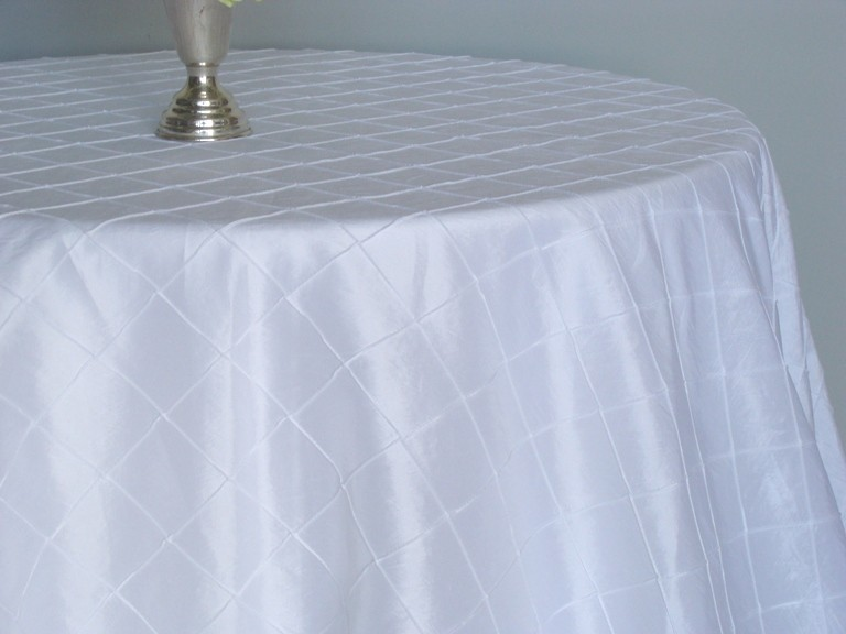 Reception, Flowers & Decor, white, Table, Rental, Tablecloth, Rentals, Setting, Pintuck, Tablecloths, Best dressed tablecloths