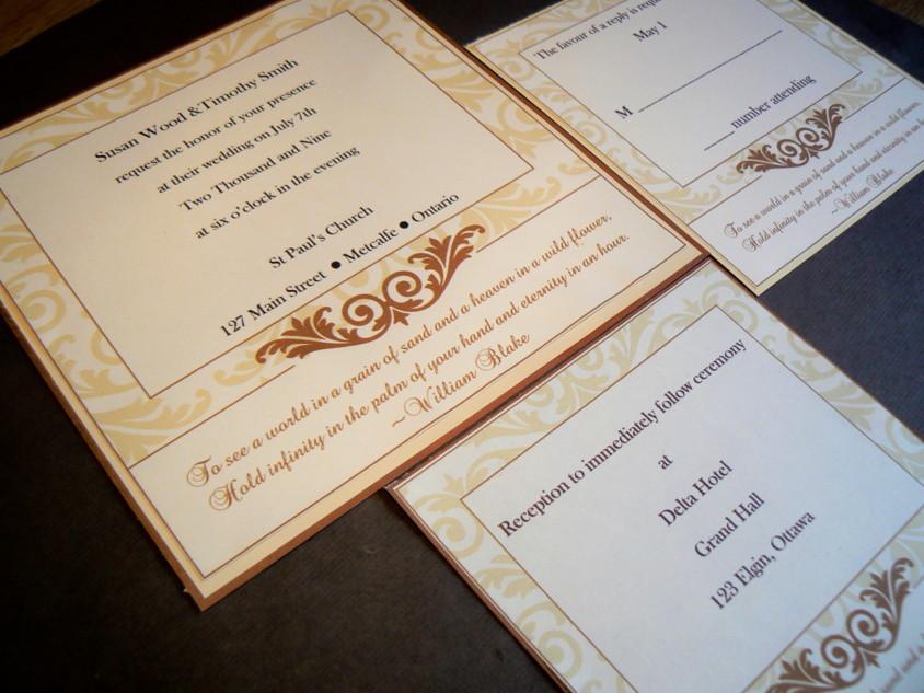 Stationery, white, yellow, gold, invitation, Invitations, Wedding, Custom, Formal, Handmade, Fanfare handmade invitations and correspondence