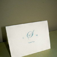 Stationery, white, Invitations, Monogram, Card, You, Thank, Fanfare handmade invitations and correspondence