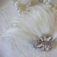 Beauty, Jewelry, ivory, Brooches, Headbands, Feathers, Vintage, Accessories, Hair, Weddings, Cream, Old, Brooch, Head, Headband, Fascinator, Piece, Hollywood, Clip, Croska, Roska