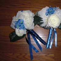 Flowers & Decor, white, blue, Bridesmaid Bouquets, Flowers, Bridesmaid, Bouquets