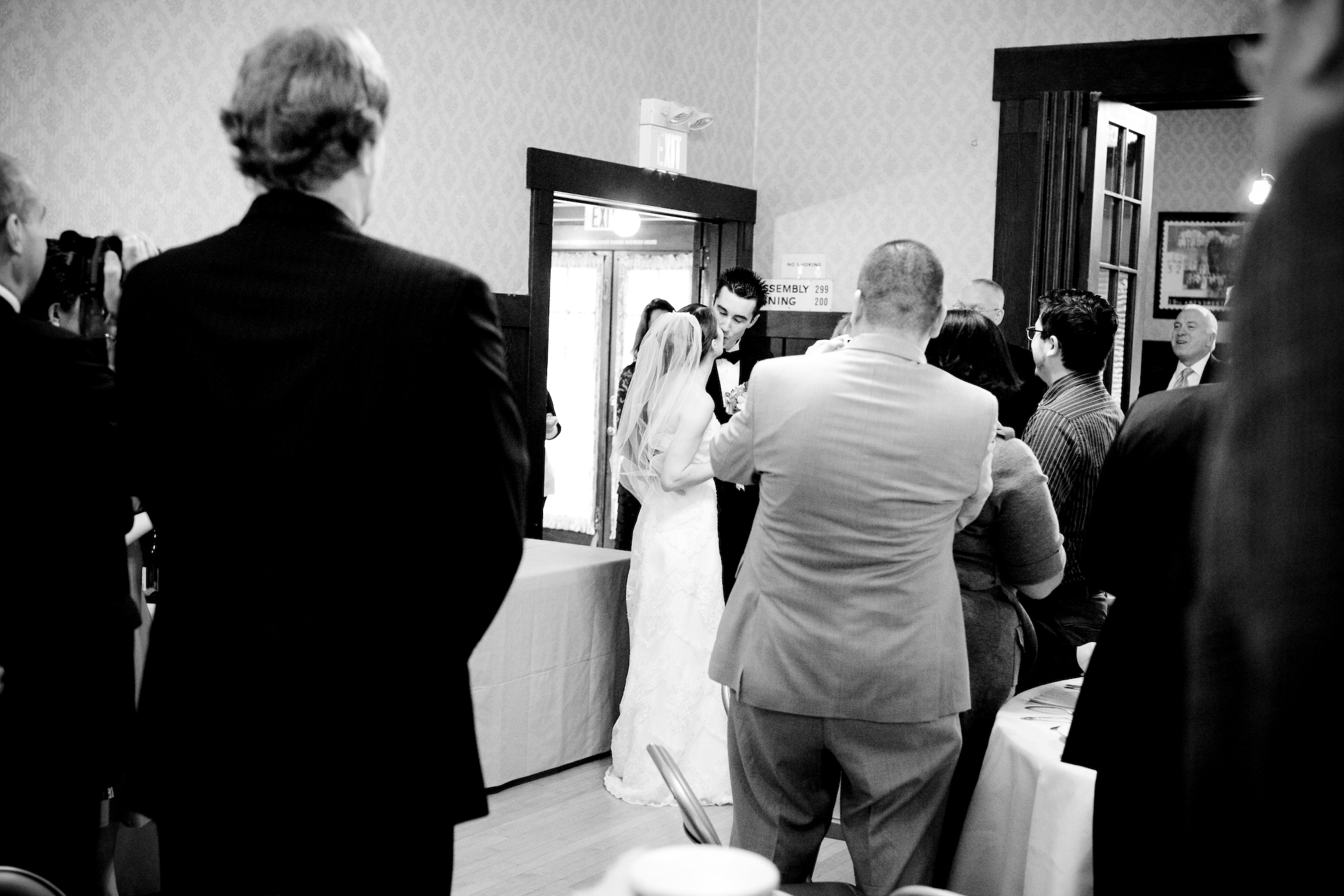 Reception, Flowers & Decor, white, black, Wedding, Kiss, First, Donya photography