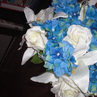 Flowers & Decor, white, blue, Bride Bouquets, Flowers, Bouquet, Of, My, Top