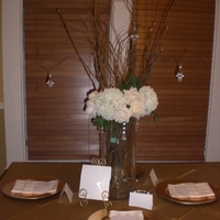 Reception, Flowers & Decor, white, ivory, gold, Centerpieces, Flower, Centerpiece, Crystal, Bling