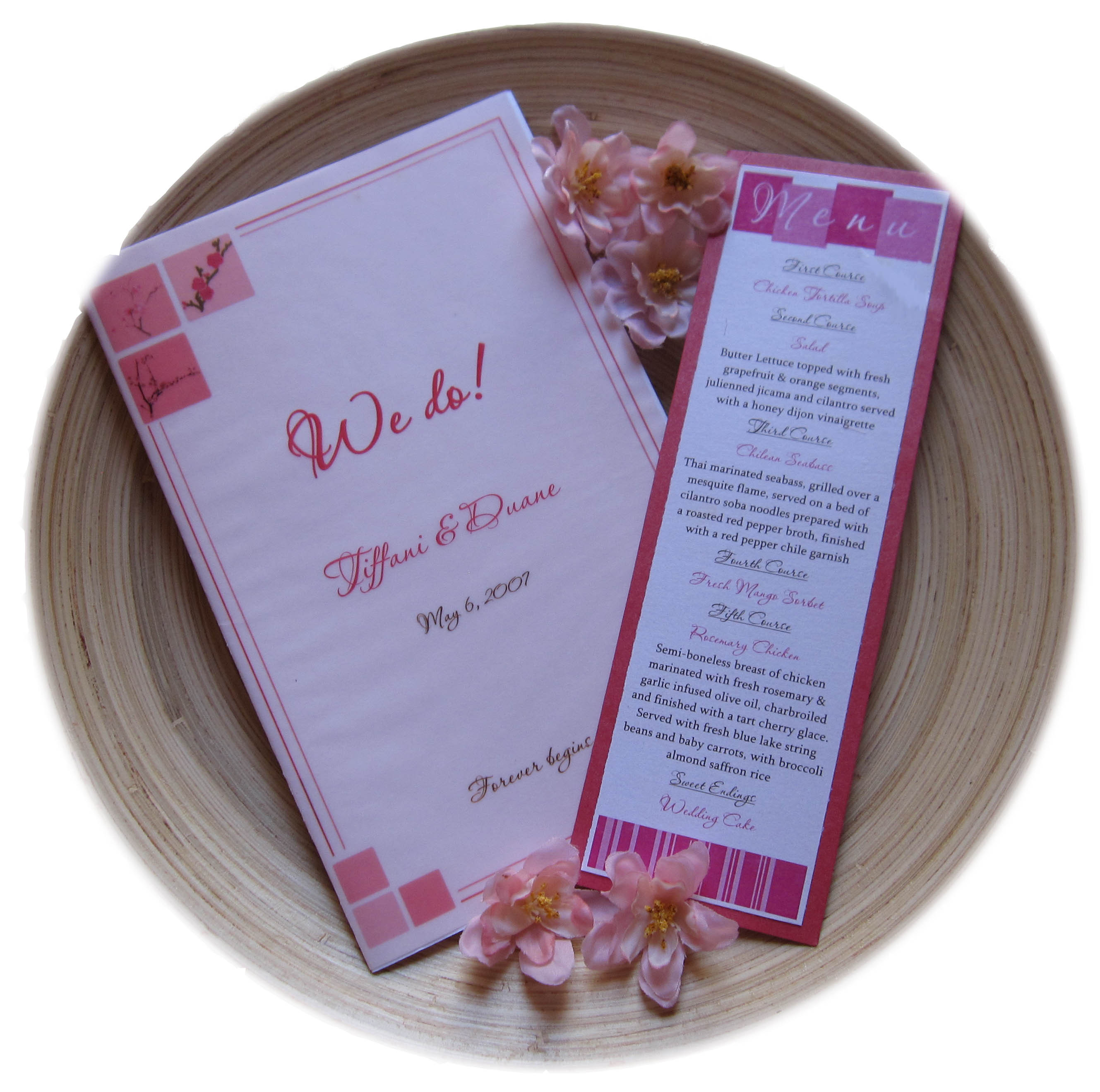 Ceremony, Flowers & Decor, Stationery, pink, Invitations, Menu, Program, La design boutique