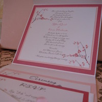 Stationery, pink, Invitations, Cherry, Blossoms, Envelopment, La design boutique