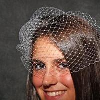 Beauty, Veils, Fashion, white, ivory, Veil, Hair, Birdcage, French, Blusher, Veiling, Ann marie bridal
