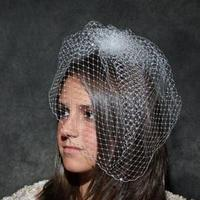 Beauty, Veils, Fashion, white, Veil, Hair, Birdcage, French, Blusher, Veiling, Ann marie bridal