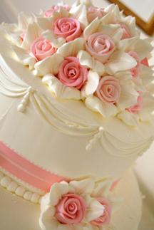Reception, Flowers & Decor, Cakes, pink, cake, S graham photography