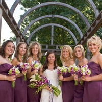 Flowers & Decor, Bridesmaids, Bridesmaids Dresses, Wedding Dresses, Fashion, purple, green, dress, Bridesmaid Bouquets, Outdoor, Flowers, Wedding, Wedding day bliss, Flower Wedding Dresses