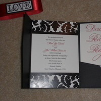 Stationery, red, black, Invitations