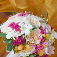 Ceremony, Inspiration, Reception, Flowers & Decor, white, orange, pink, green, Ceremony Flowers, Bride Bouquets, Garden, Bride, Flowers, Garden Wedding Flowers & Decor, Roses, Bouquet, Orchids, Rose, Board, Tuberose, Simply that flowers, Nerines