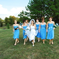 Beauty, Ceremony, Inspiration, Flowers & Decor, Jewelry, Bridesmaids, Bridesmaids Dresses, Wedding Dresses, Fashion, white, blue, dress, Ceremony Flowers, Bridesmaid Bouquets, Flowers, Hair, Board, Mankin photography, Flower Wedding Dresses