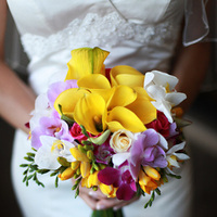 Flowers & Decor, yellow, pink, purple, green, Bride Bouquets, Flowers, Bouquet, Orchids, Ashley bartoletti photography